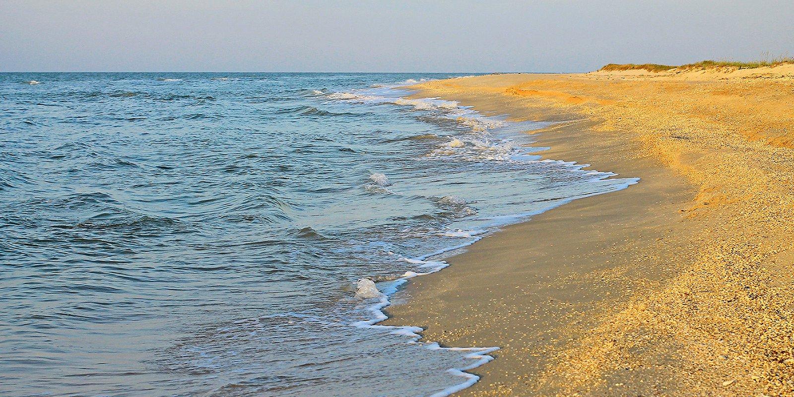 Довжина коси близько 20 км, що становить 11 морських миль, найширша частина - приблизно 5 км. Берегова лінія західній та північно-західної частин Острови Бірючий характерна наявністю лиманів та мілководних бухт.